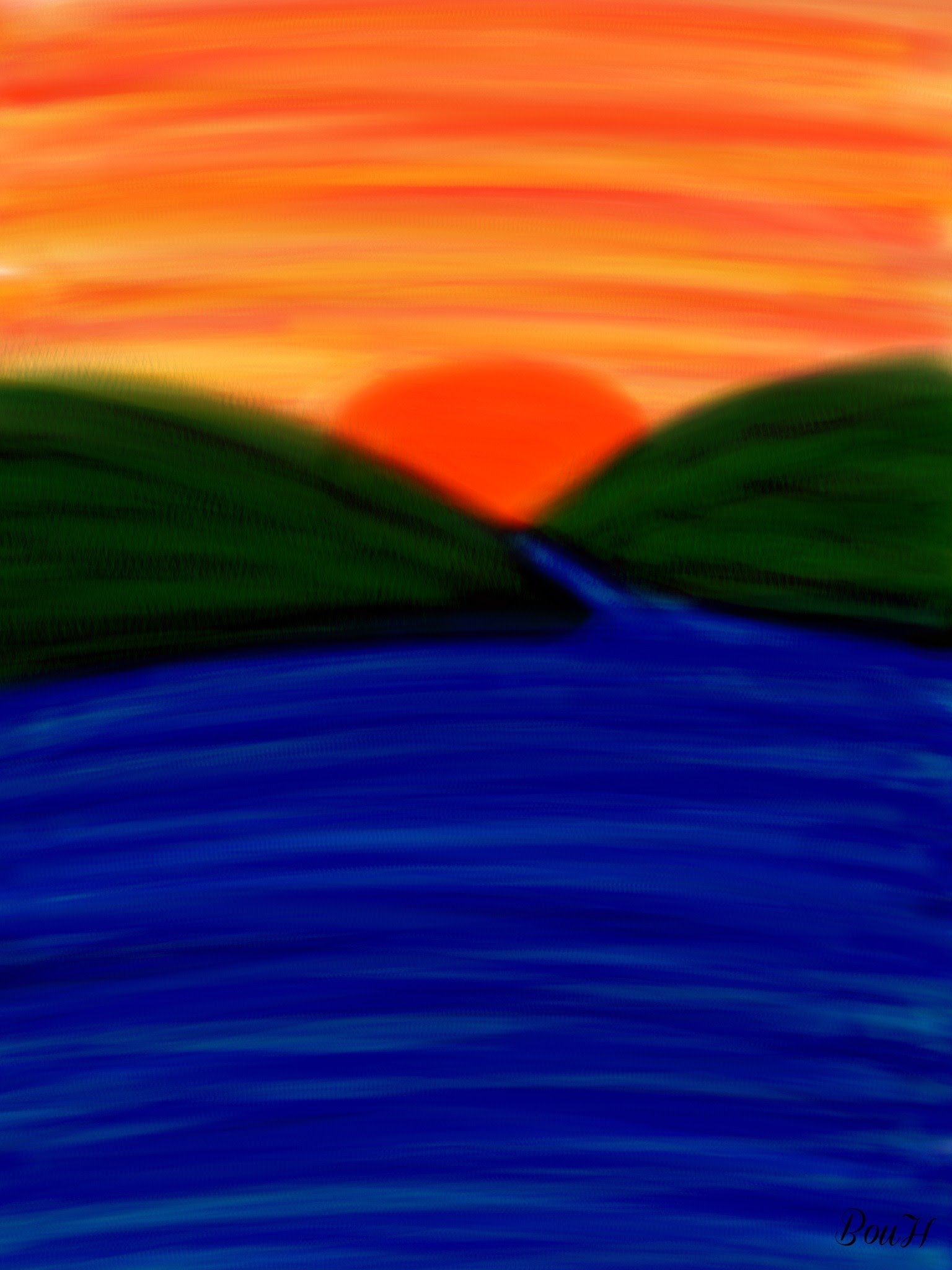 1536x2048 Sunrise Drawing