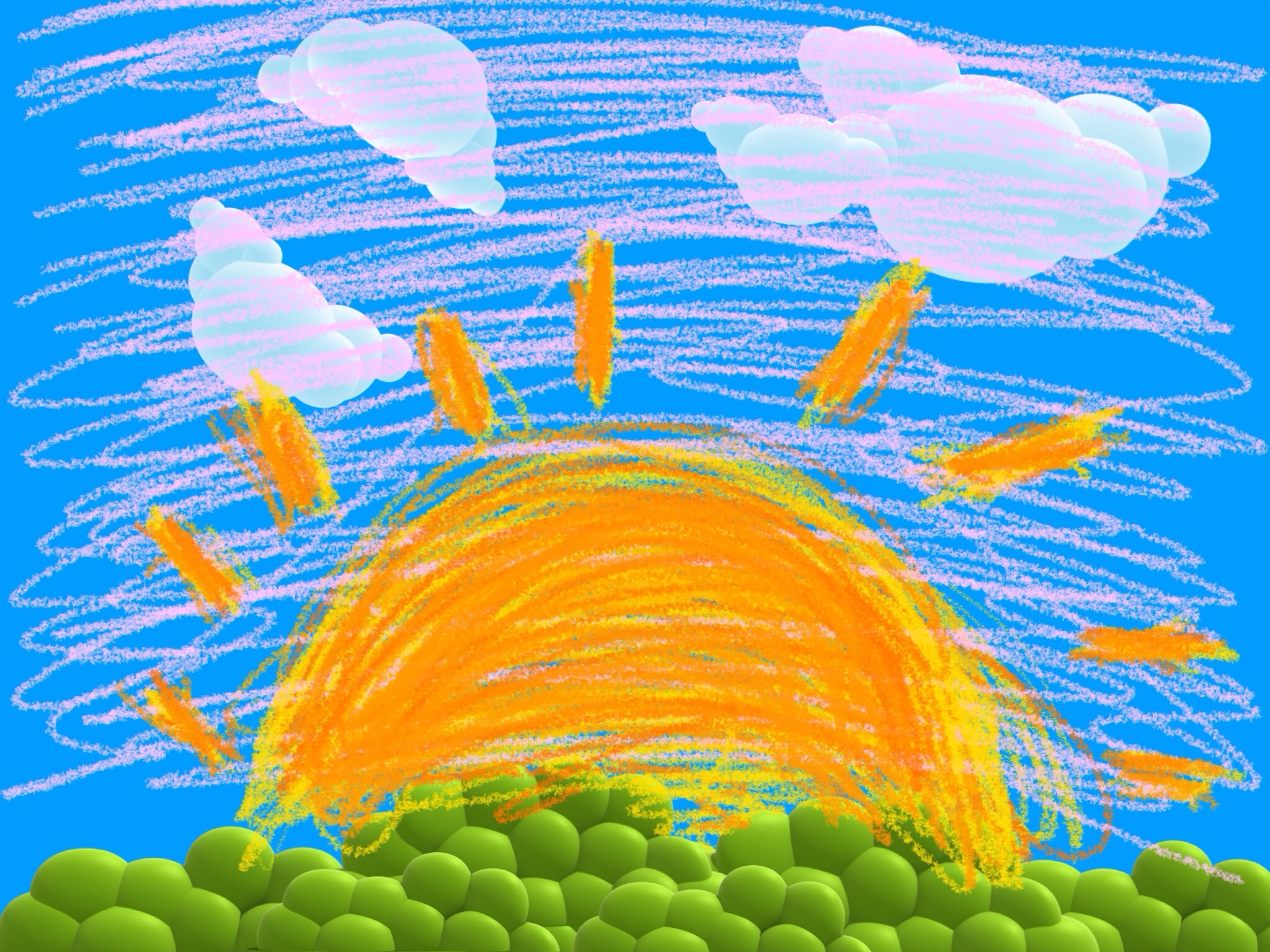 2048x1536 Sunrise In The Land Of Drawing Carl Amazingness