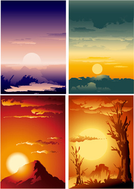262x368 Sunrise Sunset Drawing Picture Free Vector Download (89,984 Free