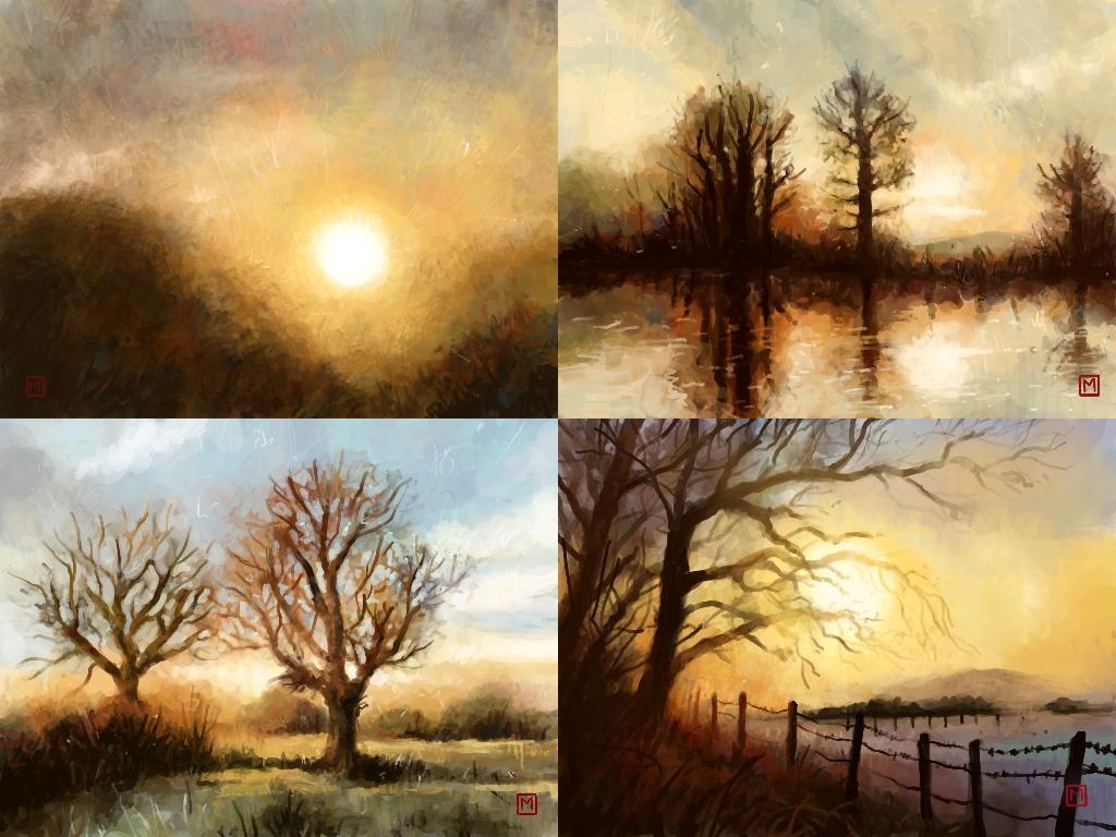 1024x768 Munin's Sketchblog Ds Autumn Amp Winter Sunsets Sunrise)