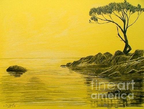 500x380 Sunrise Drawing By Dan Hausel