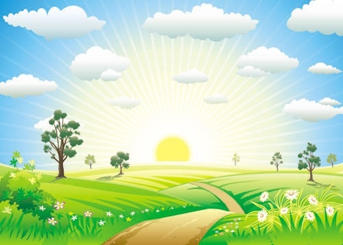 500x357 Cartoons Sunrise 02 Vector Free Vector In Open Office Drawing Svg