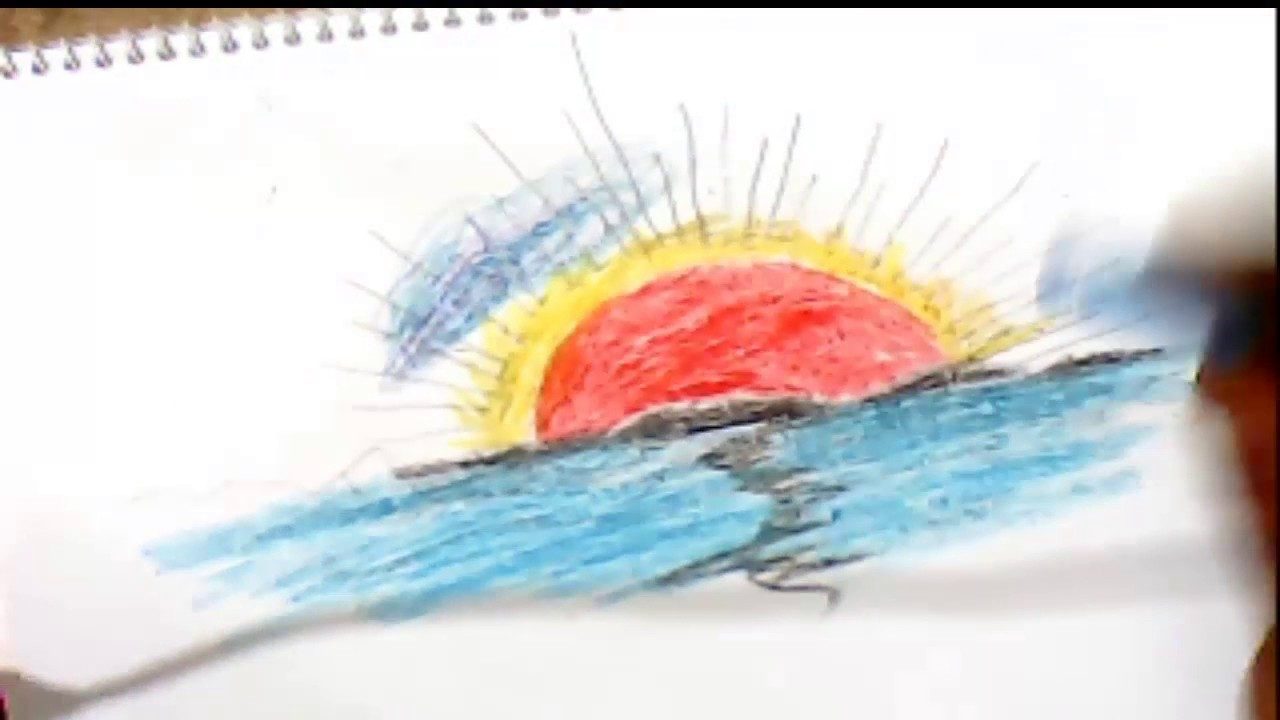 1280x720 How To Draw Sunrise For Kids Step By Step Easily
