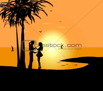 340x300 Image 3734062 Dancing Couple Against A Sunrise And The Sea