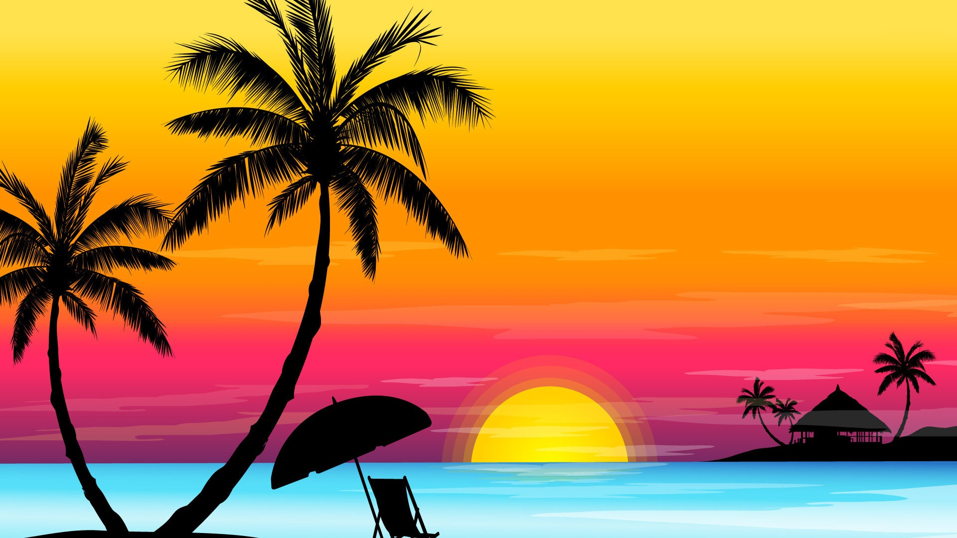sunset beach drawing at getdrawings | free for personal use