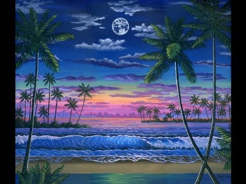 480x360 How To Paint Moon Sunset Complete Painting Video Class Landscape
