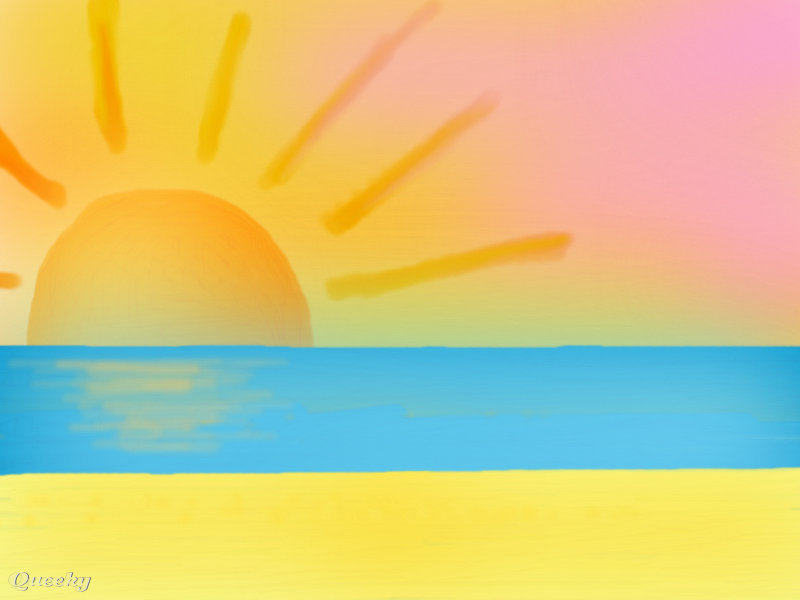 800x600 Sunset By The Beach A Landscape Speedpaint Drawing By