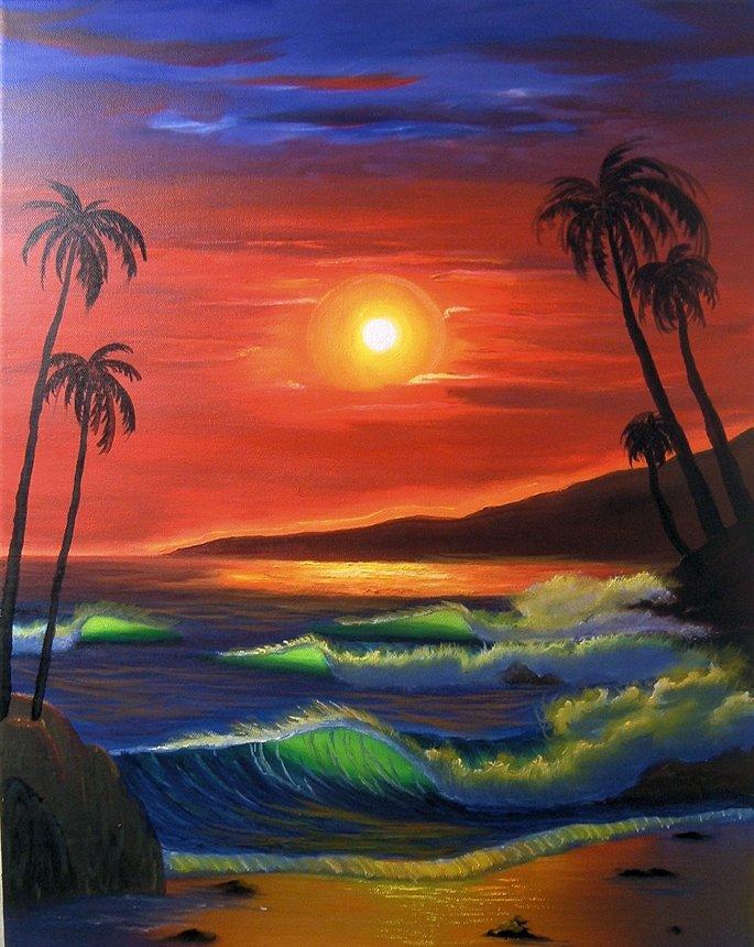 685x860 Sunset Beach.jpg Art Drawings Sunset