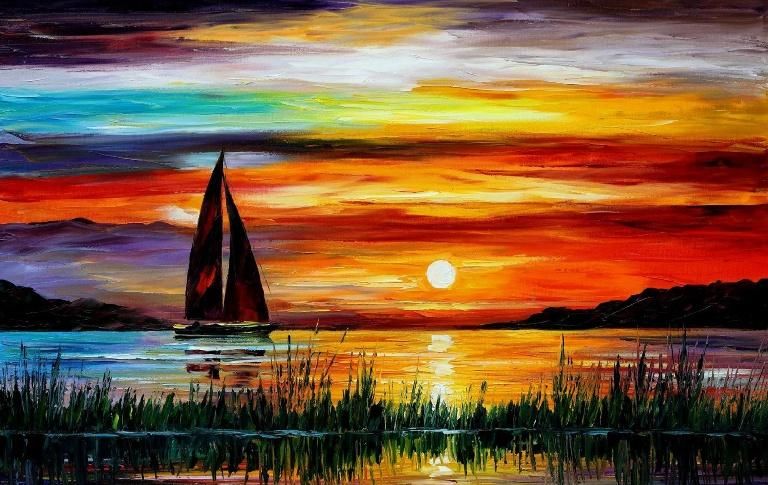 768x485 How To Draw Sunset Step By Step