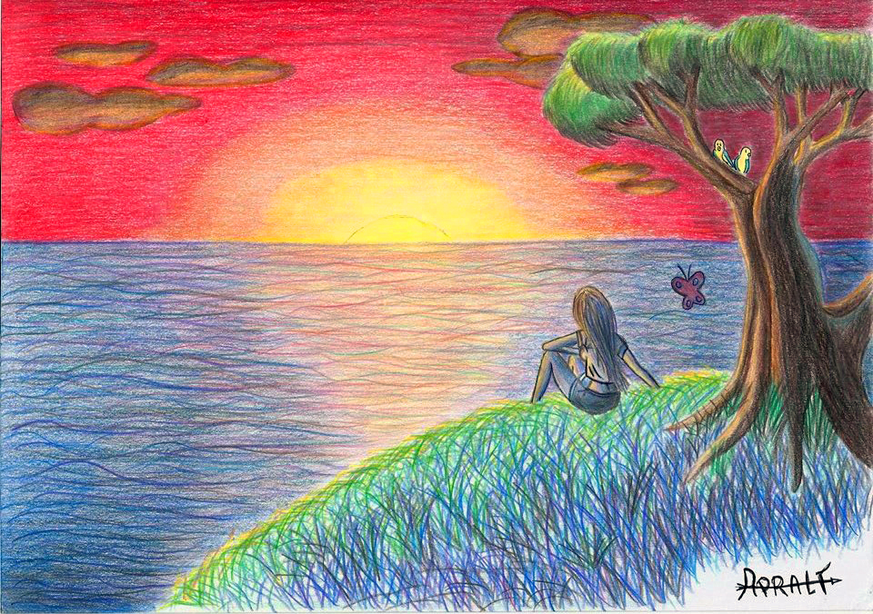 960x676 Sunset Alone