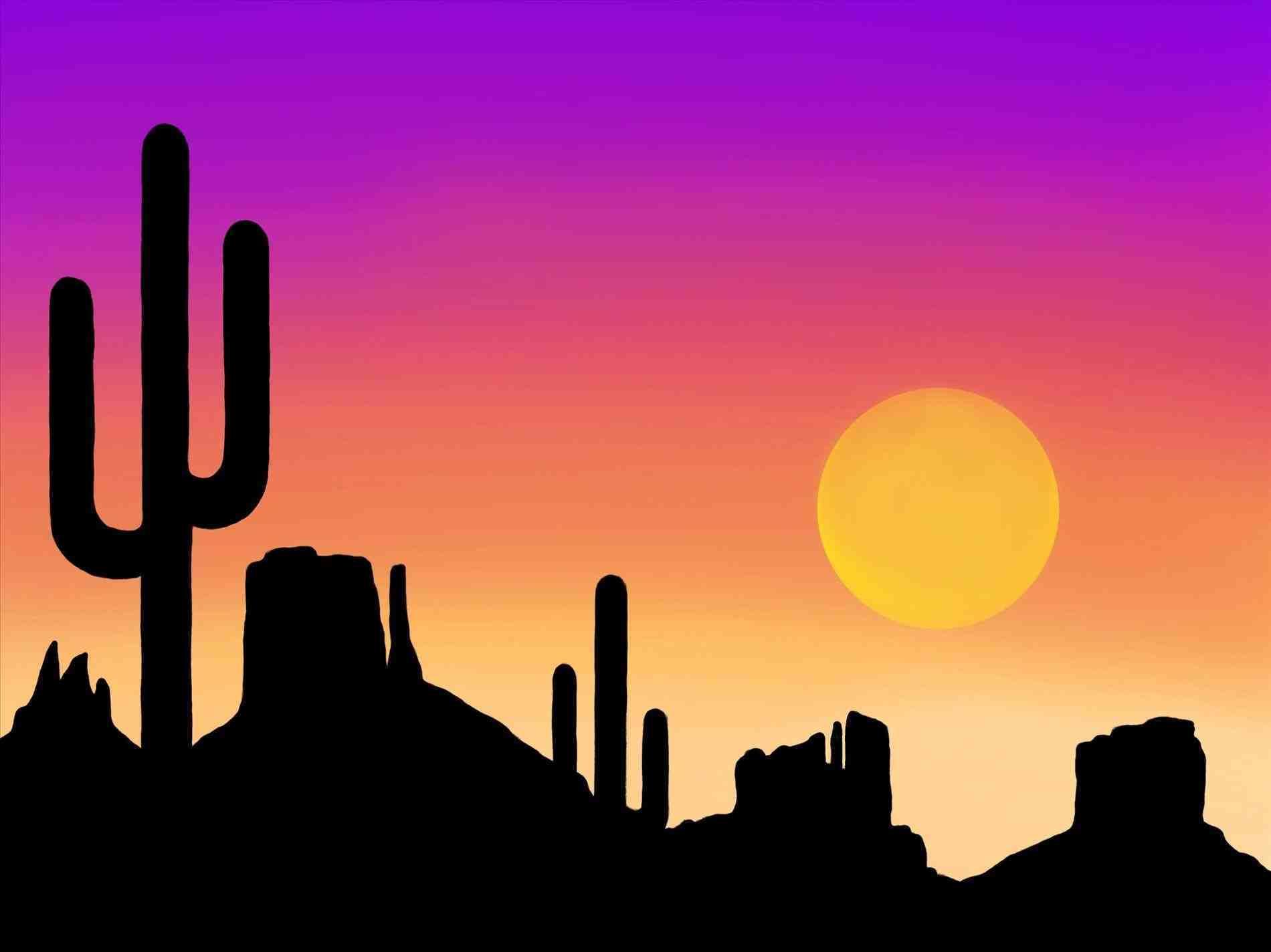 1900x1424 Landscape Sunset Drawing 2018