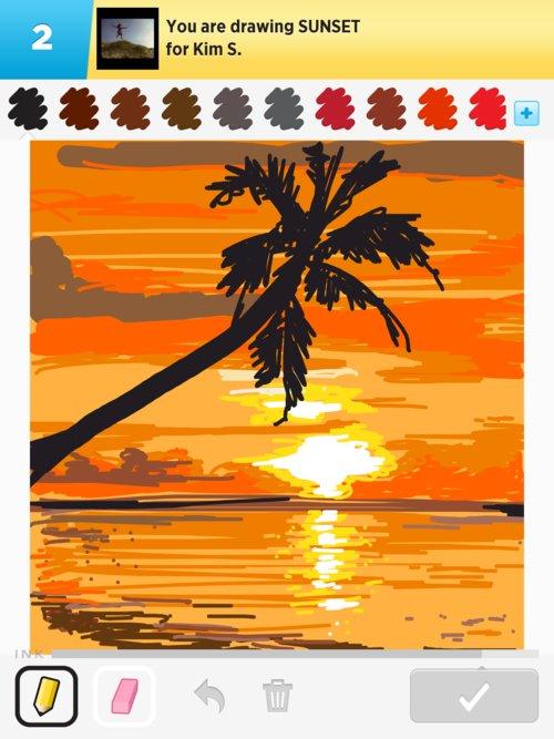 500x667 Sunset Drawings