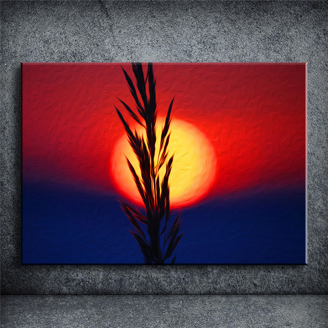 640x640 Sunset Flower Oil Painting Drawing Home Decor Home Beauty Picture