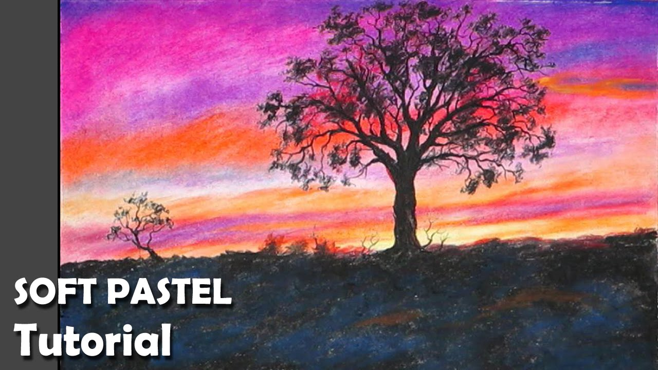 1280x720 How To Paint Sunset With Soft Pastels Pastel Amp Tempera