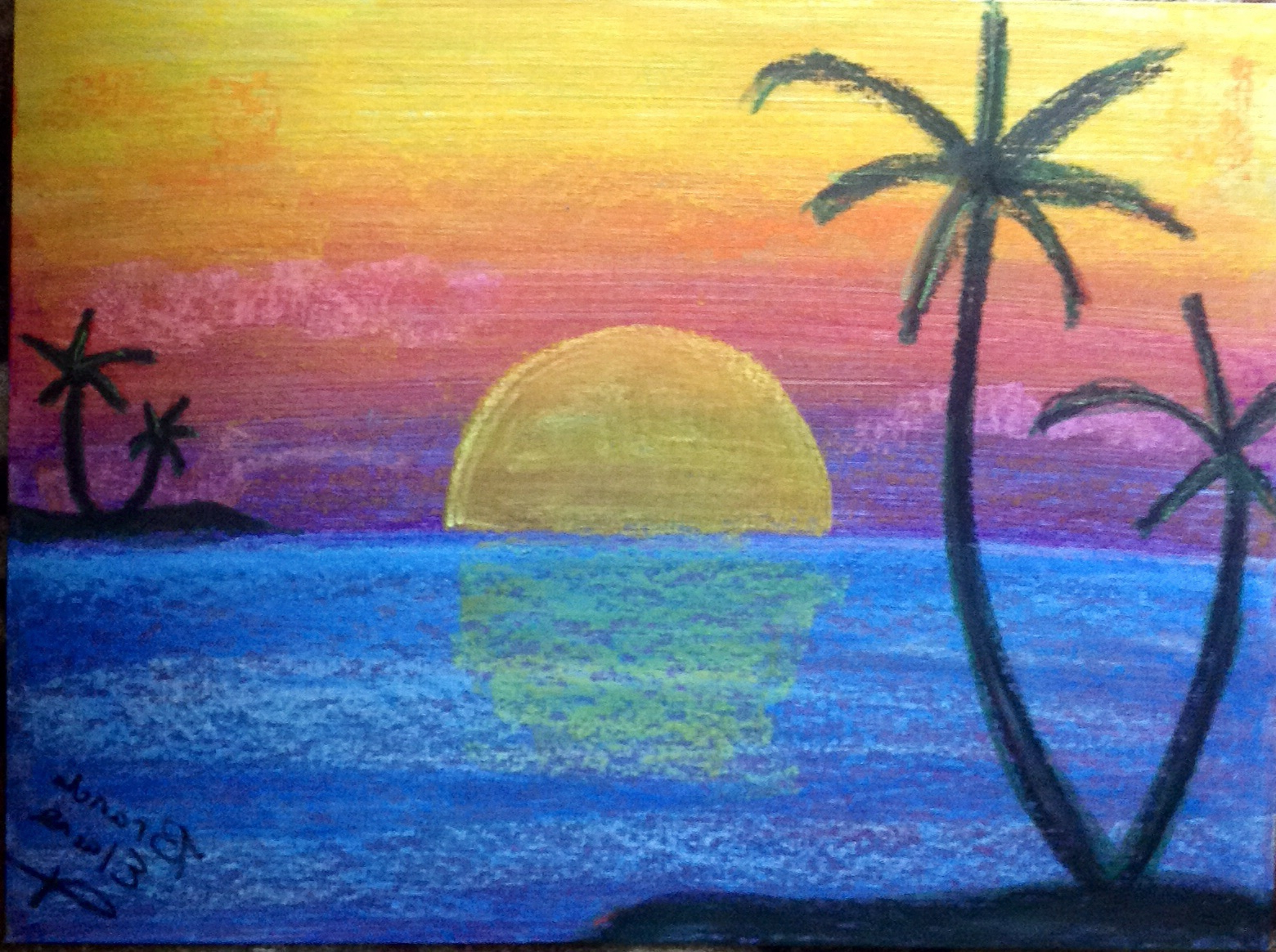 How to draw Sunset ft Moonlight Scenery with Oil Pastel ... |Pastel Drawings Of Sunsets