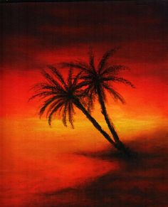 236x291 Oil Pastel Drawings Bling Kin Eck Sunset Painting Art