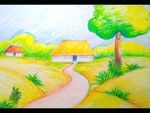 480x360 Easy Landscapes To Draw Easy Shading Drawing Pencil Shading