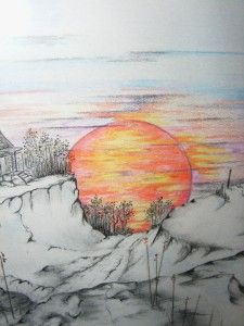 Sunset Pencil Drawing At Getdrawings Com Free For Personal Use