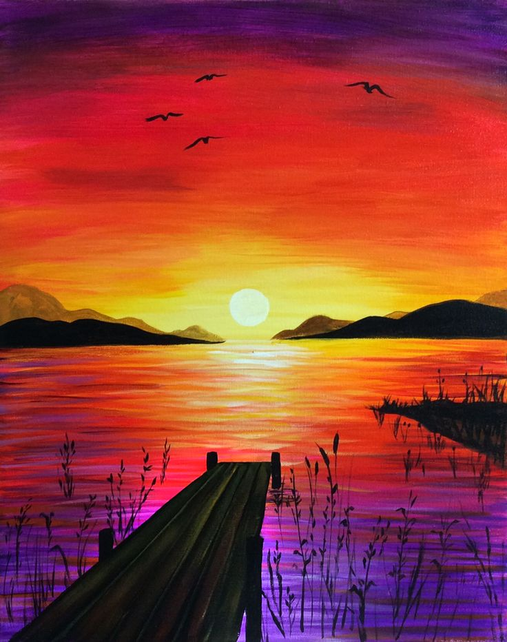 736x932 Drawn Pice Sunset