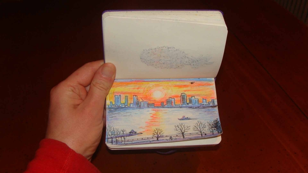 1024x576 Pencil Drawings Of Sunsets Colored Pencil Ferrebeekeeper