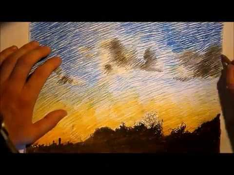 Sunsets With Colored Pencils Drawing at GetDrawings | Free ...