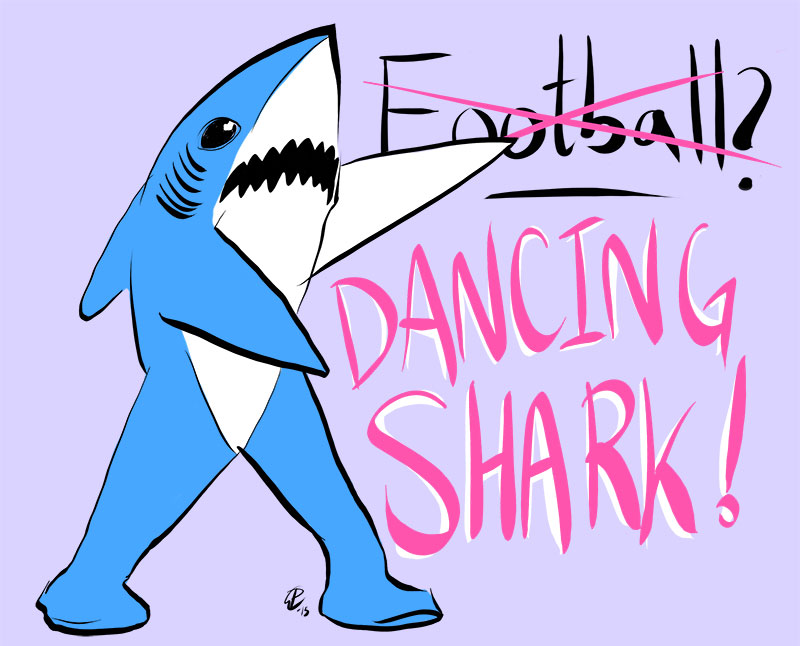 800x646 Couldn'T Help But Draw One Of Dancing Sharks