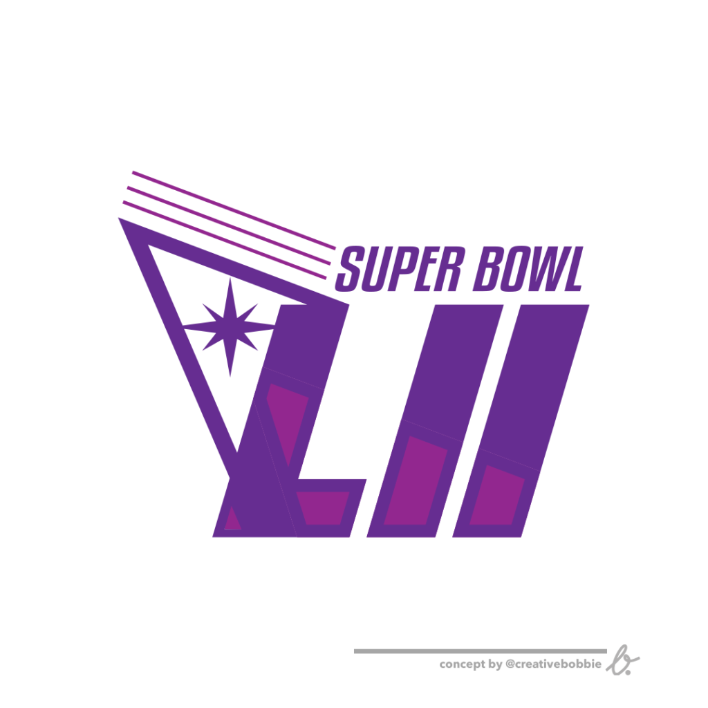 1024x1024 How To Create A Logo For Super Bowl 52 Like The Logos Of Old