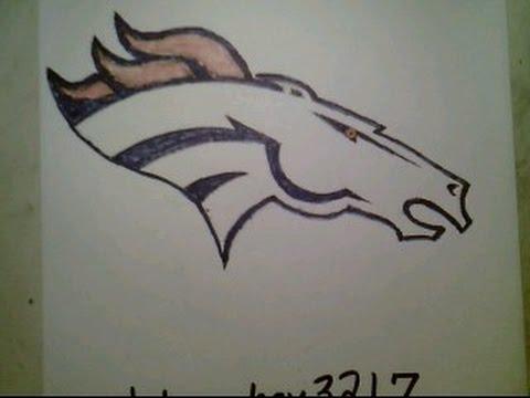 480x360 How To Draw Denver Broncos Logo Nfl Easily Super Bowl 50 Peyton