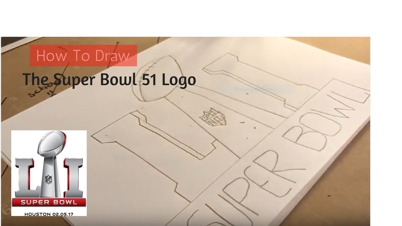 1280x720 How To Draw The Super Bowl 51 Logo Episode