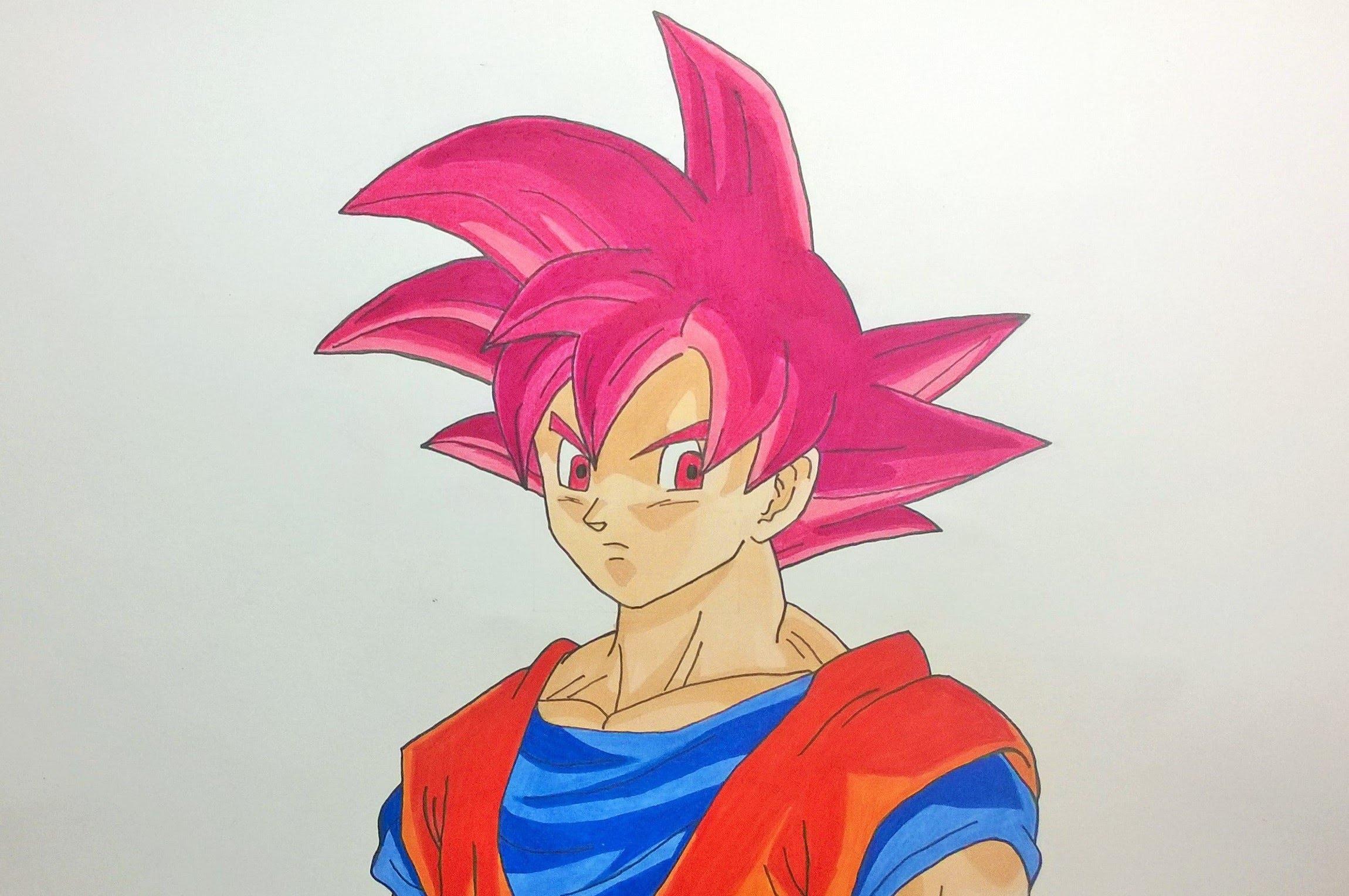 2300x1528 Dragon Ball Z Super Saiyan God Images Sketch Drawing Goku Super