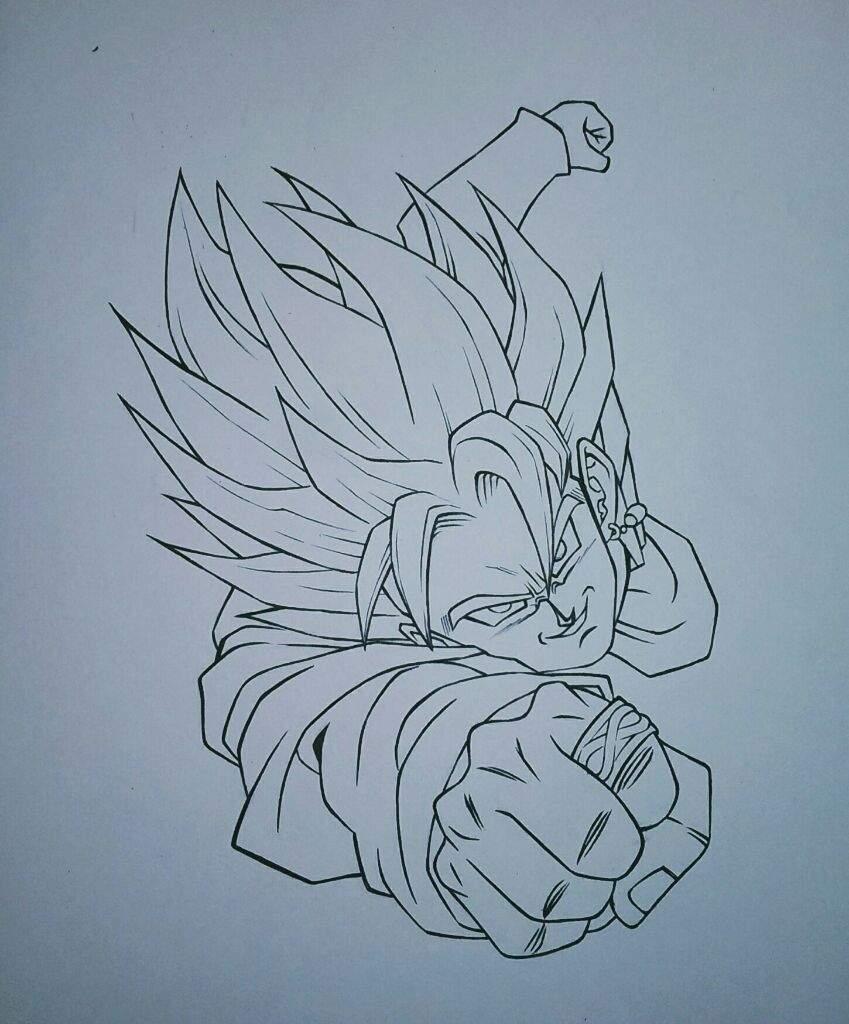 849x1024 Goku Black Super Saiyan Rose Drawing! Anime Amino