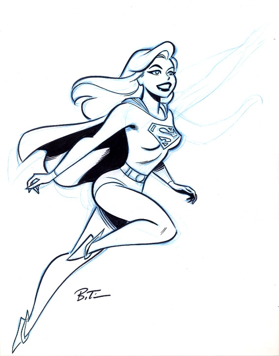566x723 Bruce Timm Supergirl Drawing, In Wallace Harrington's Supergirl