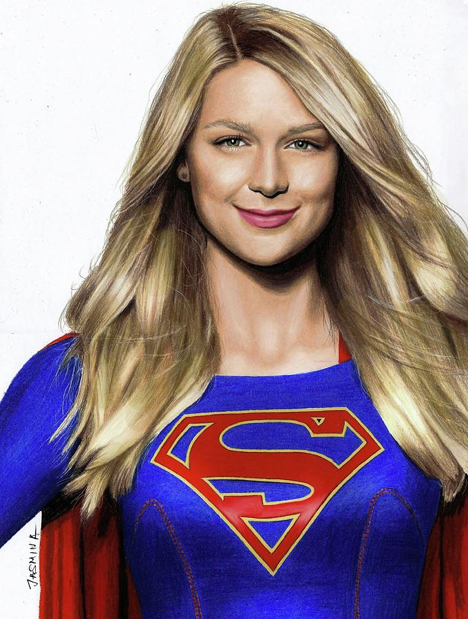 680x900 Supergirl Drawing Drawing By Jasmina Susak