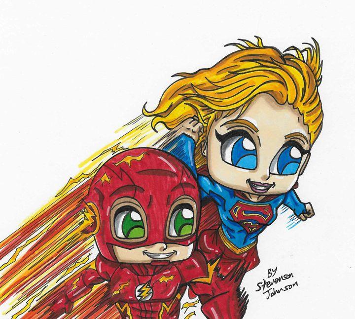 720x646 Supergirl Amp The Flash Team Up
