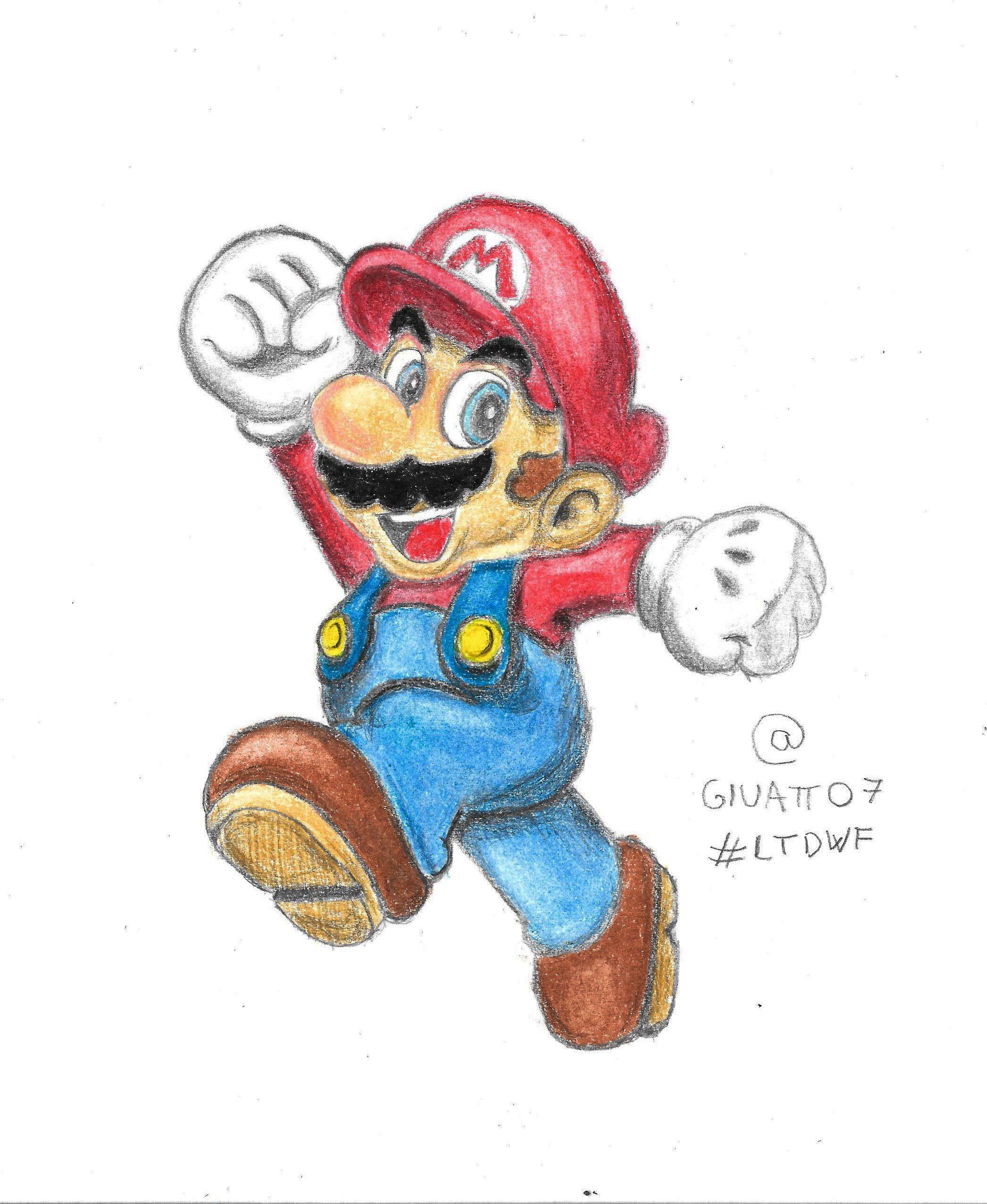 2091x2550 Super Mario Pencil Drawing