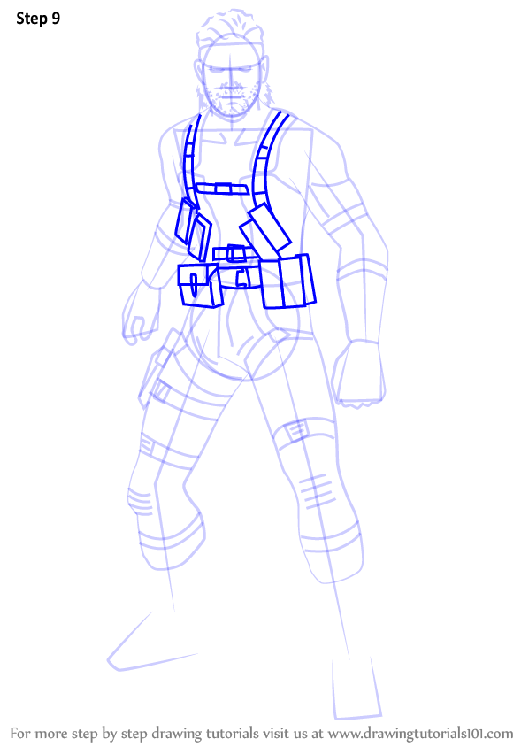 598x844 Learn How To Draw Snake From Super Smash Bros (Super Smash Bros