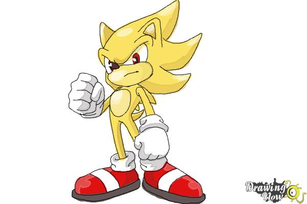 600x400 How To Draw Super Sonic