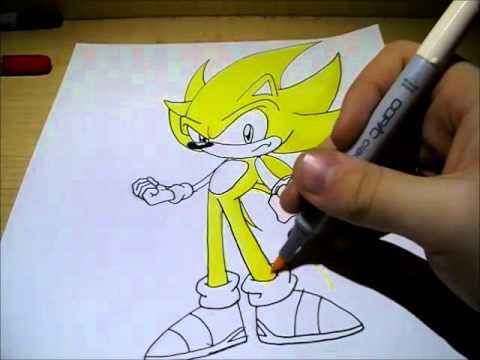 480x360 How To Draw Super Sonic!!!