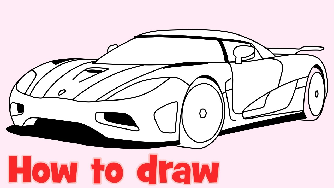 1280x720 How To Draw A Car Koenigsegg Agera R Step By Step Supercar Drawing