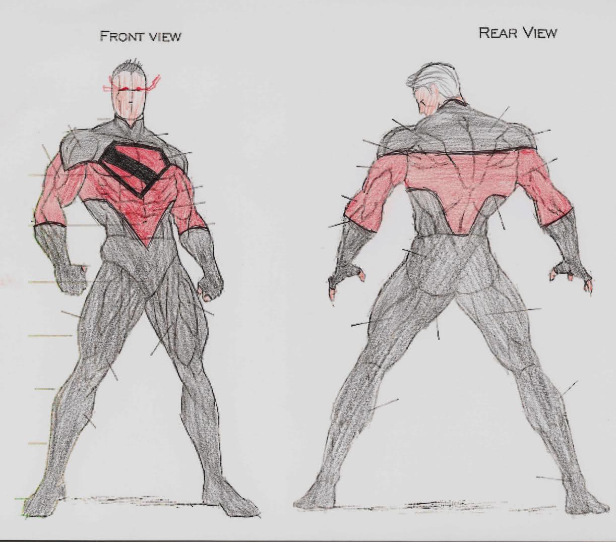 1222x1075 Superhero Body Drawing