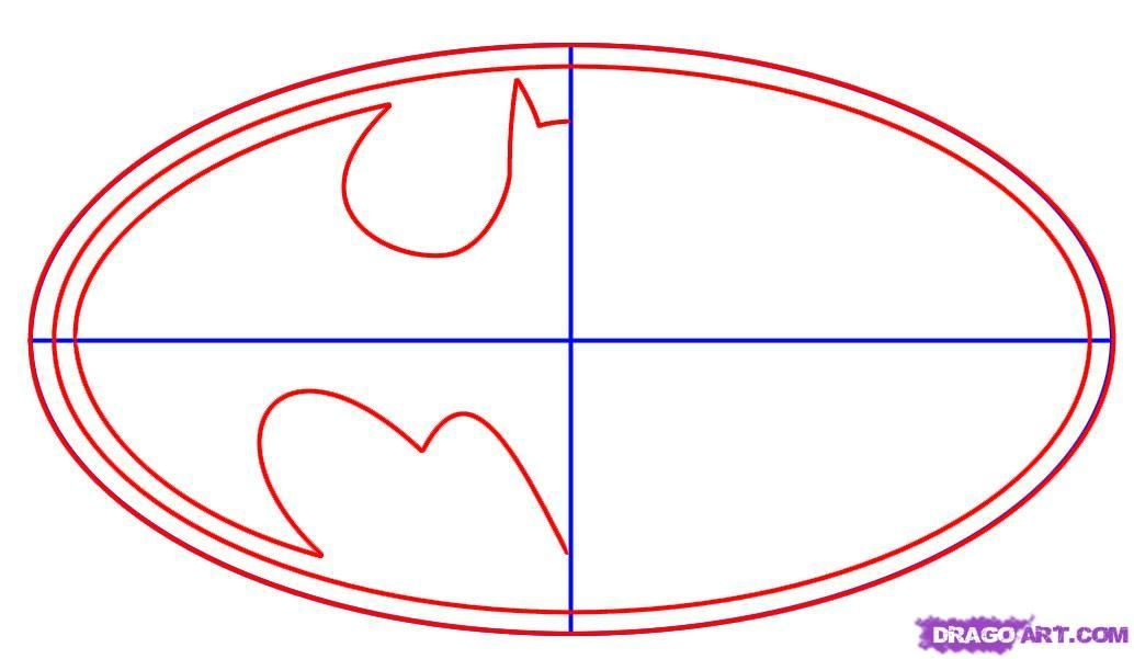 1034x601 Batman Symbol Template How To Draw Batman Logo Step 2 Bryn