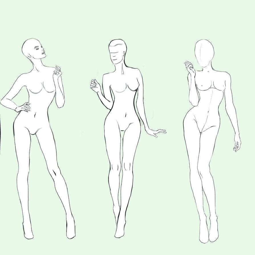 894x894 Template Fashion Designer Template Female Male Superhero Drawing