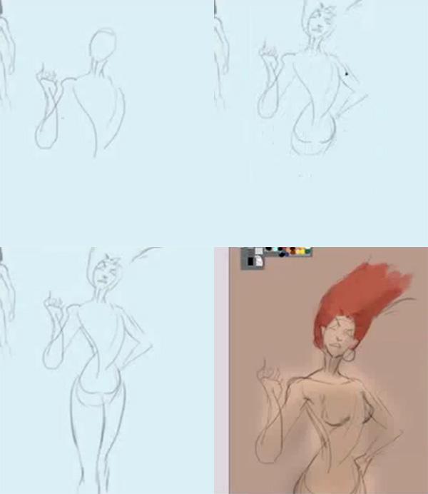 600x692 How To Draw Female Superhero