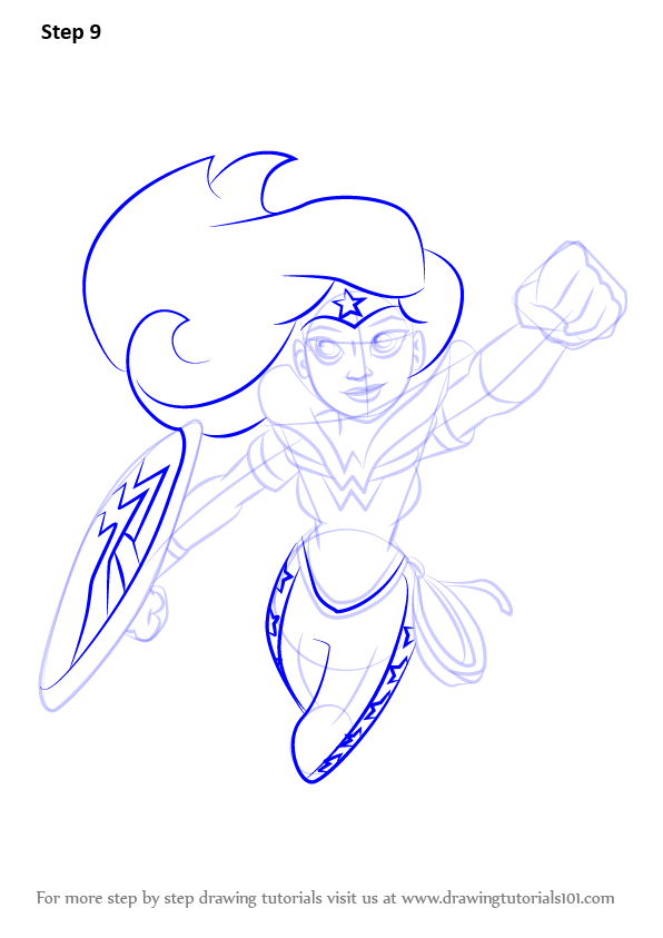 596x843 Learn How To Draw Wonder Woman From Dc Super Hero Girls (Dc Super