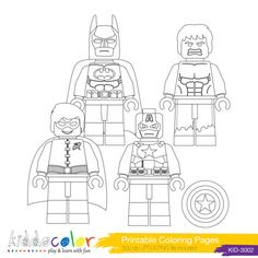 236x236 Lego Dc Universe Super Heroes Coloring Pages Free Printable Lego