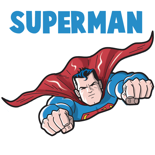 500x500 How To Draw Superman From Dc Comics In Easy Step By Step Drawing