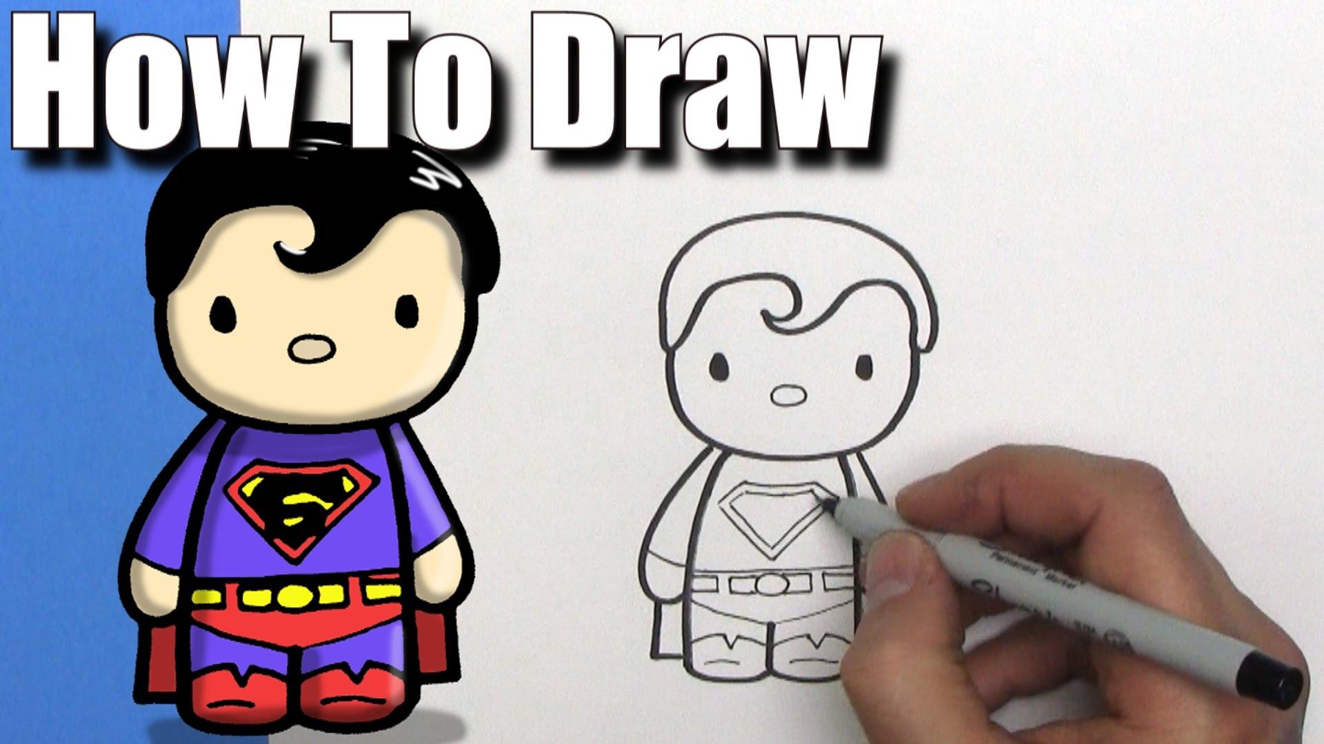 1920x1080 How To Draw A Cute Cartoon Superman