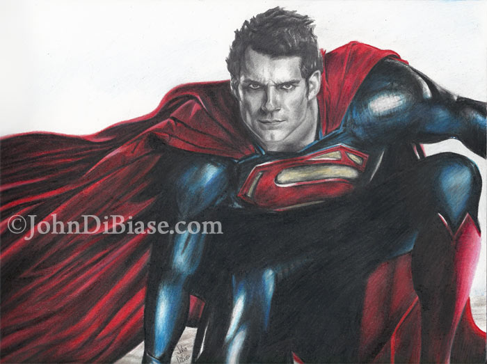 700x523 Colored Pencilgraphite Drawing Of Henry Cavill As Superman In Man