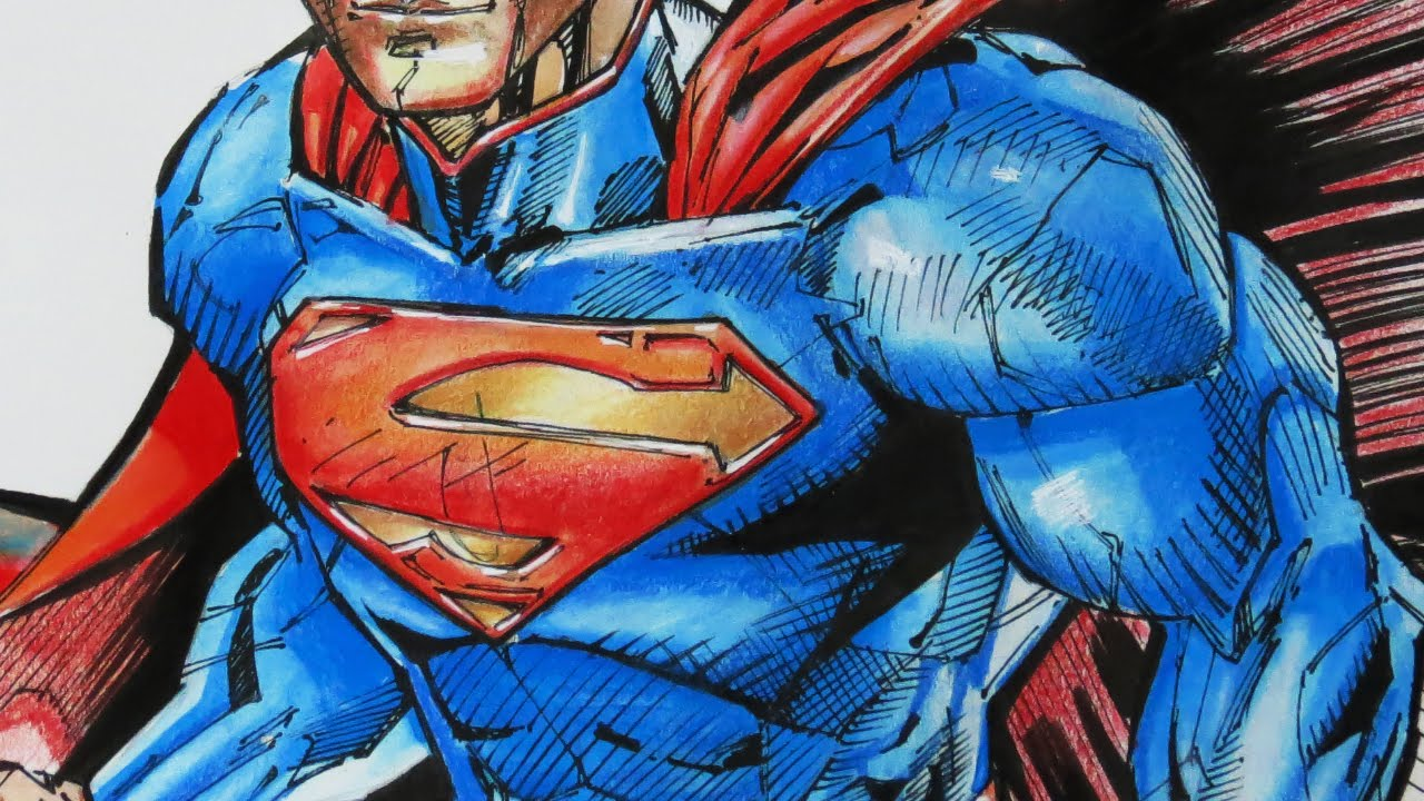 1280x720 Drawing Superman