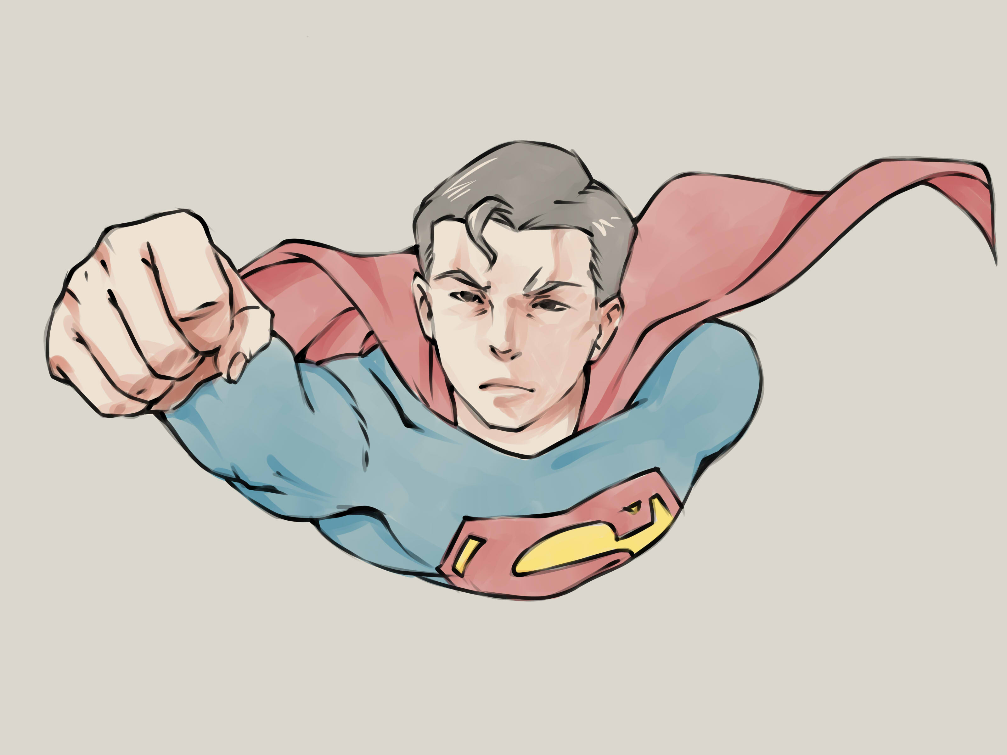 3200x2400 How To Draw Superman 13 Steps With Pictures Wikihow Home Decor